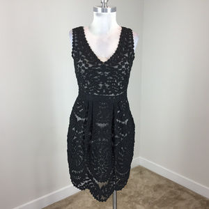 Yoana Baraschi Xs 2 Black Lace Dress Anthropologie